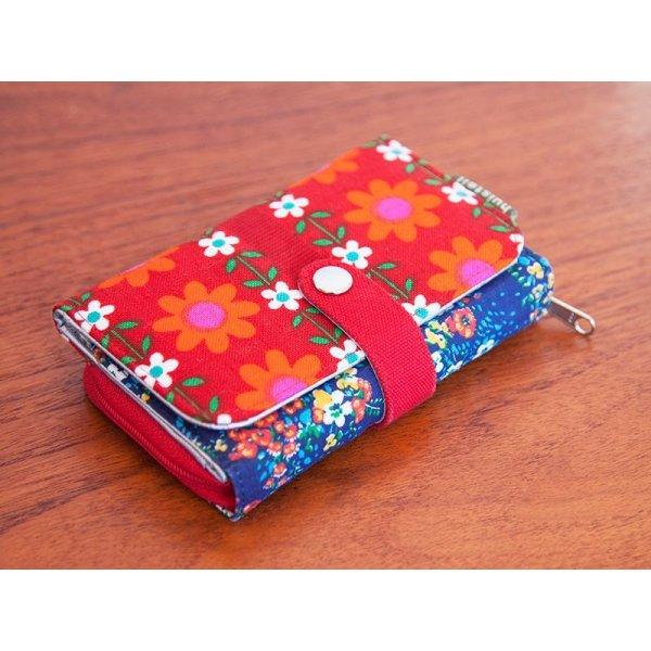 オランダ 財布 レッド・オレンジお花
