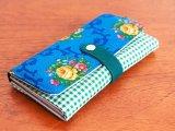 オランダ 長財布 ブルーのバラ