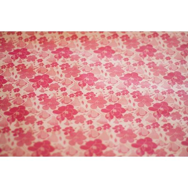 チェコ ワックスペーパー お花柄ピンク