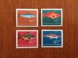 西ドイツ 福祉切手 魚 1964年