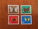 西ドイツ 福祉切手 蝶 1962年