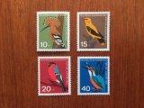 西ドイツ 福祉切手 鳥 1963年