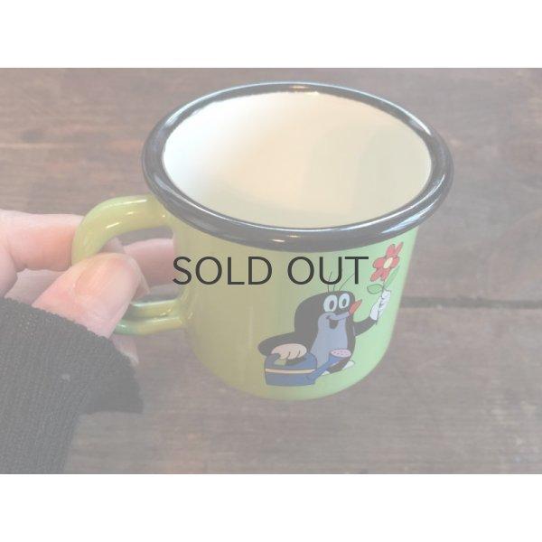 画像2: もぐらのクルテク ホーローマグカップ S