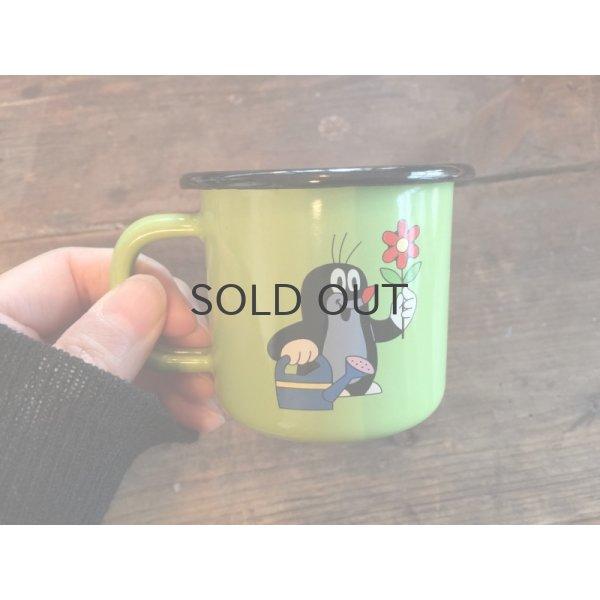 画像1: もぐらのクルテク ホーローマグカップ S