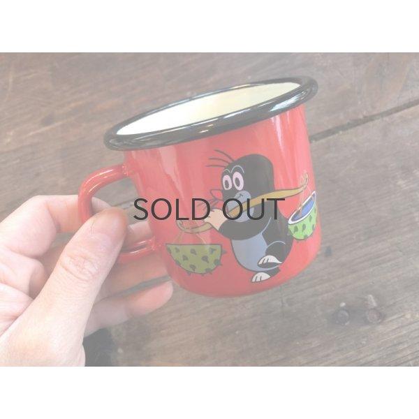 画像1: もぐらのクルテク ホーローマグカップ M