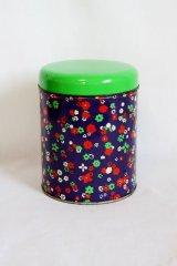 オランダ お花柄の缶